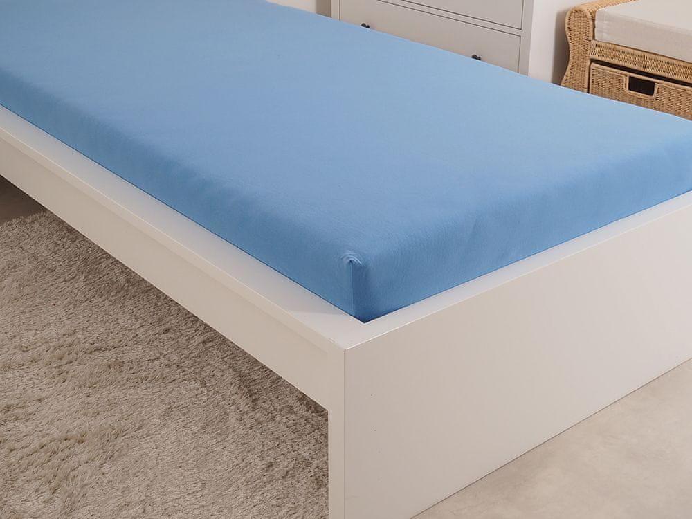 B.E.S. Petrovice Prostěradlo Jersey česaná bavlna MAKO 180x200 cm nebeská modrá