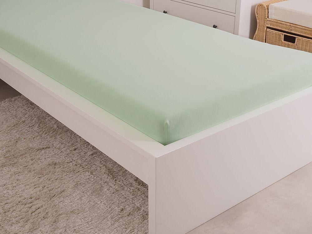 B.E.S. Petrovice Prostěradlo Jersey česaná bavlna MAKO 180x200 cm světlá zelená