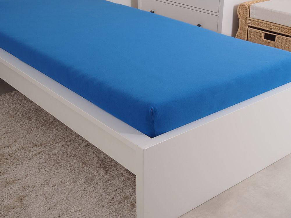 B.E.S. Petrovice Prostěradlo Jersey česaná bavlna MAKO 180x200 cm královská modrá
