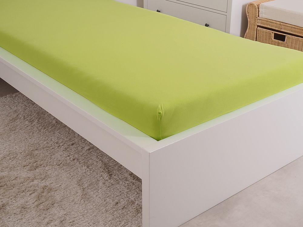 B.E.S. Petrovice Prostěradlo Jersey česaná bavlna MAKO 180x200 cm svítivá zelená