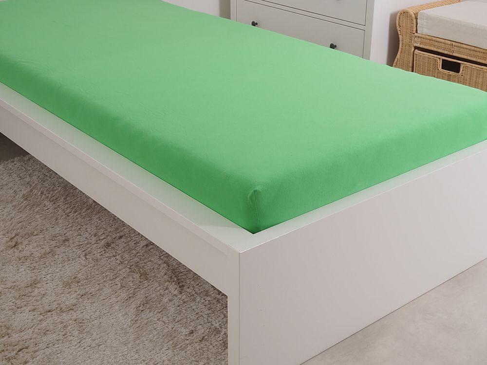 B.E.S. Petrovice Prostěradlo Jersey česaná bavlna MAKO 180x200 cm jarní zelená