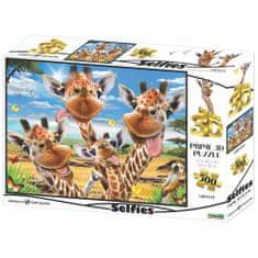 Selfie sestavljanka 3D - žirafe, 500 kosov, 61x46cm