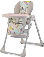 KinderKraft TASTEE jedilni stolček, pink leaf