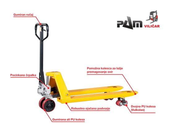 HELI Ročni paletni viličar CBD25 PREMIUM - Nosilnost 2500 kg