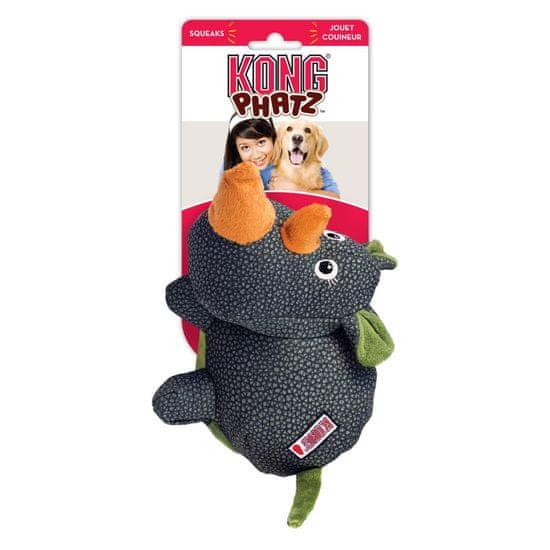 KONG Phatz Rhino igračka za pse, crna, S