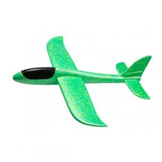 FOXGLIDER Dětské házedlo - házecí letadlo zelené 48cm EPP