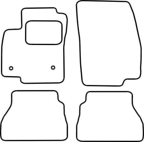 Vopi Textilní autokoberce Ford B-Max 2012-2017, barva koberce: černá, barva obšití: černé