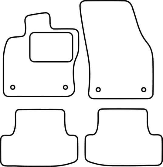 Vopi Textilní autokoberce Audi Q2 2016-, barva koberce: černá, barva obšití: černé