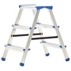 shumee 3-stupňový hliníkový obojstranný rebrík 67 cm