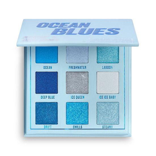 Makeup Obsession Szemhéjfesték paletta Ocean Blues (Shadow Palette) 11,7 g