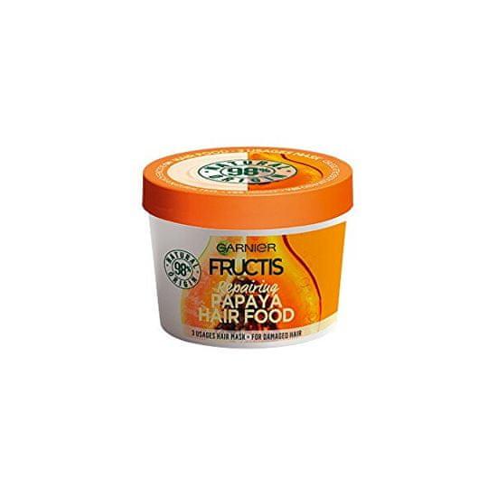 Garnier Regeneráló maszk sérült hajra Fructis (Papaya Hair Food) 390 ml