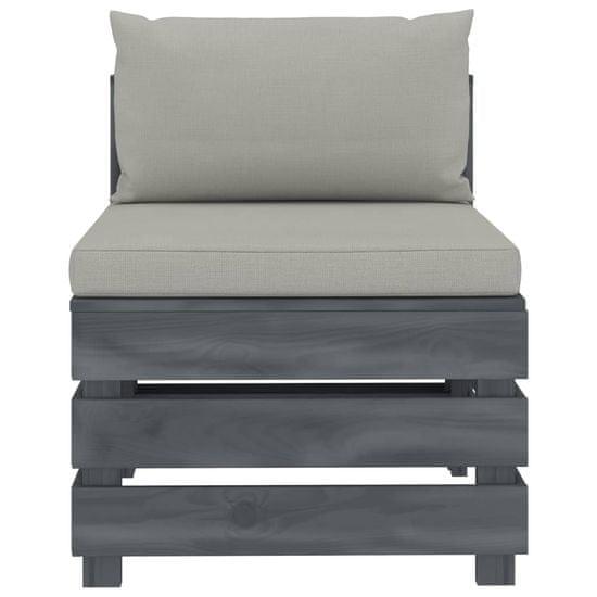 shumee 6-częściowy zestaw mebli ogrodowych z palet, poduszki taupe