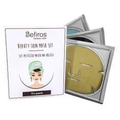 Sefiros Set pěsticích masek na obličej (Beauty Skin Mask Set) 3 ks