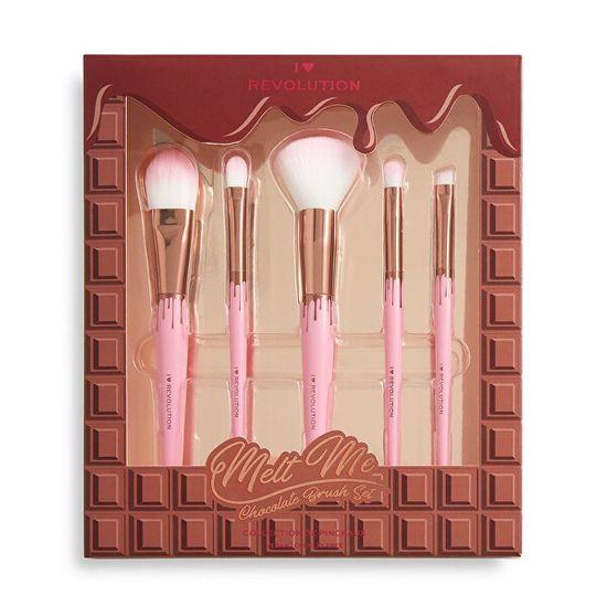 I Heart Revolution Set kozmetičnih čopičev Čokolada 5 kosov