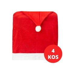 Family Christmas 4x božična prevleka za stol božičkova kapa 48x63cm