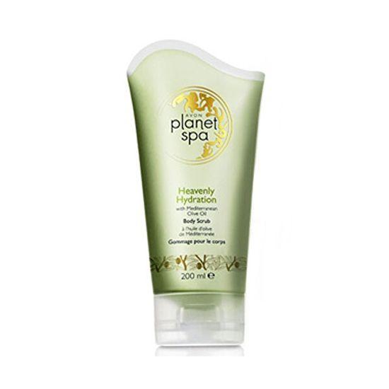 Avon Planet Spa hidratáló testradír olívaolaj kivonattal (Body Scrub Heavenly Hydration with Mediterranea