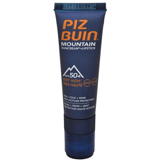 """PizBuin Slnečný krém SPF 50 a ochranný balzám na pery SPF 30 2 v 1 (Mountain Combi """"2 in 1"""" Sun Cream SPF 50"""