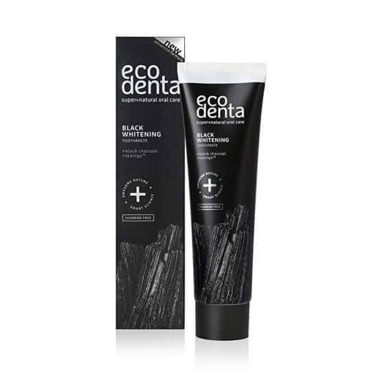 Ecodenta Črna beljenje zobne paste z ogljem in ekstrahiramo Teavigo (Black Whitening Toothpaste) 100 ml