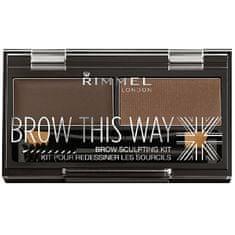 Rimmel Brow This Way (Powder Kit) 2,4 g (cień 003 Dark Brown)