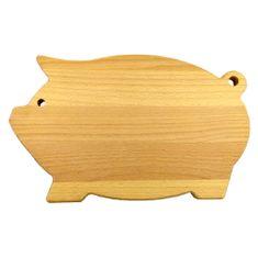 AMADEA Dřevěné prkénko servírovací ve tvaru prasete, masivní dřevo, 36x22x2 cm