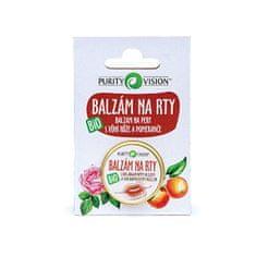 Purity Vision Nežni BIO balzam za ustnice z aromo vrtnice in pomaranče 12 ml