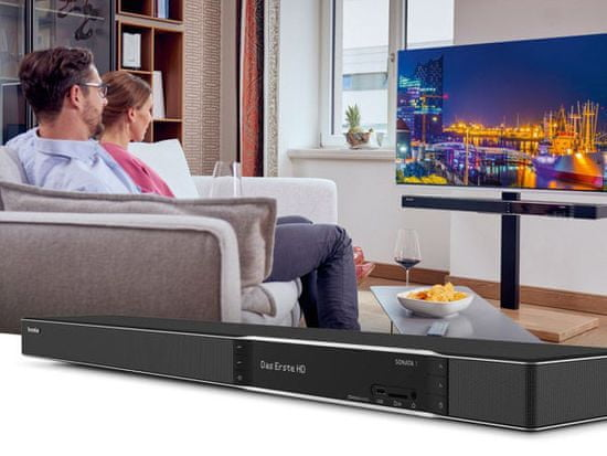 Technisat SONATA 1, 4K Ultra HD, zvuk 4x15W ELAC, černá