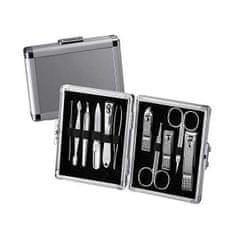 Three Seven Manikúrny set kufrík Silver - 11 nástrojov