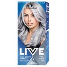 Schwarzkopf Barva na vlasy Live (Permanent Colour) (Odstín 98 Silver Steel)