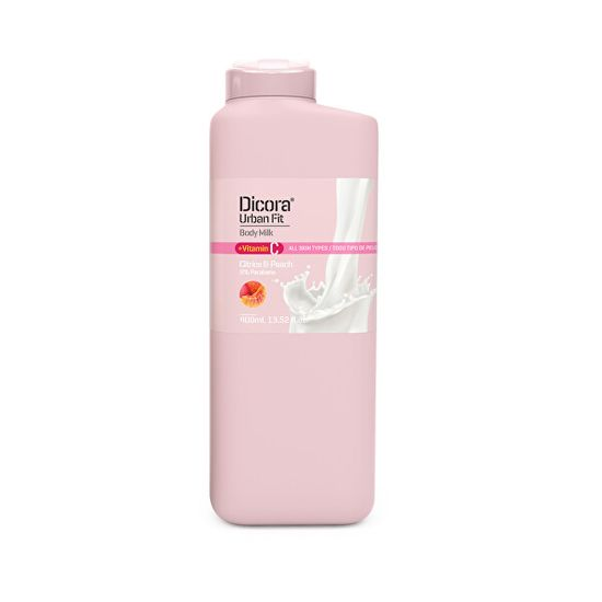 Dicora Tělové mlieko s vitamínom C Citrusy & broskyňa (Body Milk) 400 ml