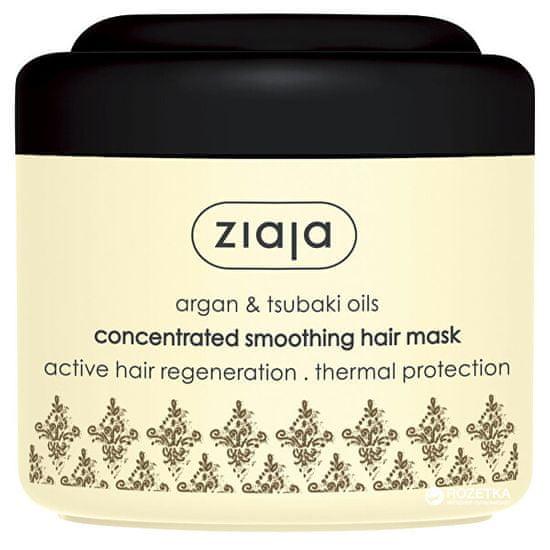 Ziaja Maska wygładzająca do suchych i zniszczonych włosówArgan (Concentrated Smoothing Hair Mask) 200 ml