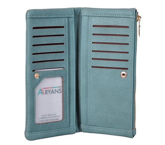 Aaryans Dámská peněženka PT19-1386 tyrkysová