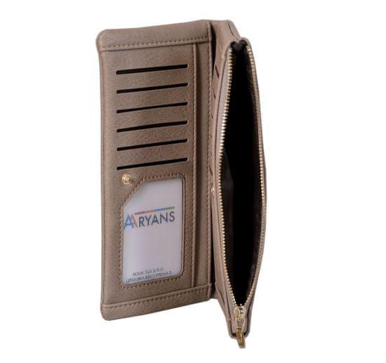 Aaryans Dámská peněženka PT19-1386 kávová