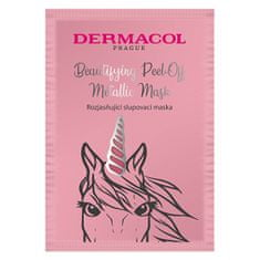Dermacol Rozjasňující slupovací maska (Beautifying Brightening Peel-Off Metallic Mask) 15 ml
