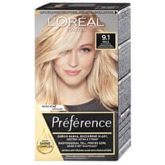 L'ORÉAL PARIS Permanentní barva na vlasy Préférence (Odstín 8.12 Studená světlá blond)