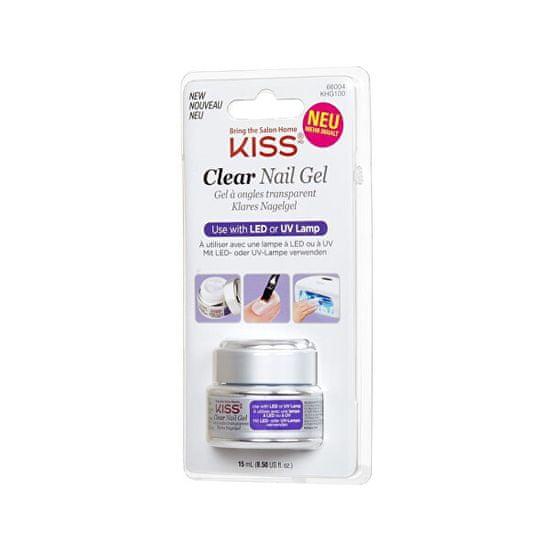 KISS UV/LED gel na nehty průhledný (Clear Nail Gel) 15 ml