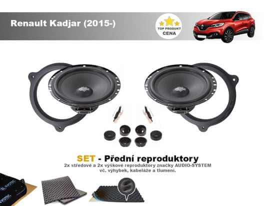 Audio-system SET - přední reproduktory do Renault Kadjar (2015-) - Audio System MX