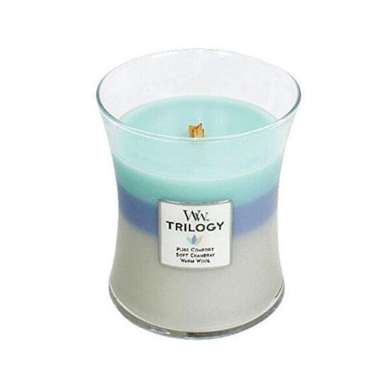 Woodwick Vonná sviečka Trilogy strednej Woven Comfort s 275 g