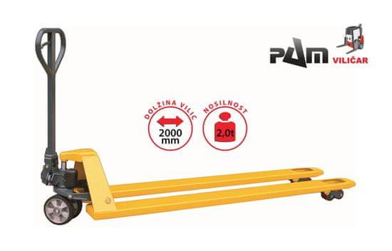 HELI Ročni paletni viličar CBD20 PREMIUM - Nosilnost 2000 kg, dolžina vilic 2000 mm