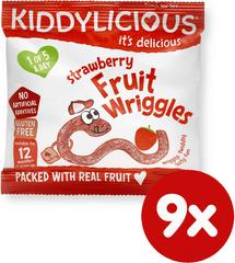 Kiddylicious žížalky jahodové 9x12g