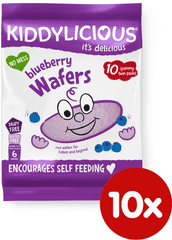 Kiddylicious Rýžové oplatky - Borůvka - 10x4g