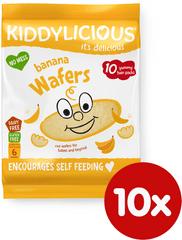 Kiddylicious Rýžové oplatky - Banán - 10x4g