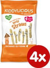 Kiddylicious Tyčinky čočkové se smetanou a pažitkou 4x15 g