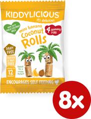 Kiddylicious Trubičky s kokosem a banánem - 8x6,8g