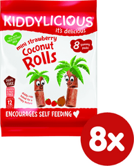 Kiddylicious Trubičky s kokosem a jahodami - 8x6,8g g