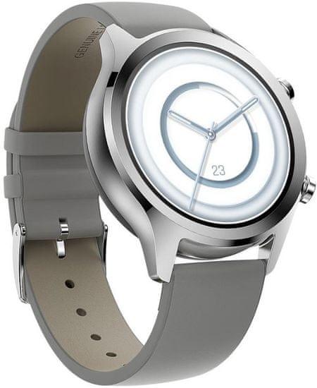 TICWATCH smartwatch C2+, Platinum Silver