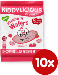Kiddylicious Rýžové oplatky - Jahoda - 10x4g
