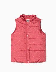 Zippy Polstrovaná vesta pro dívčí body, růžová, 3-4 roky