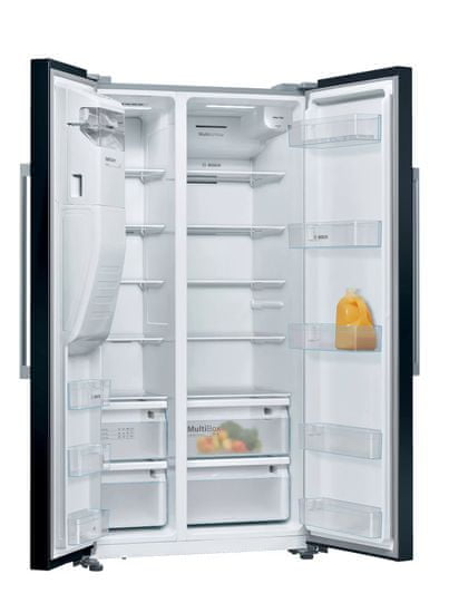Bosch KAD93VBFP ameriški hladilnik, 178,7 x 90,8 cm, črn