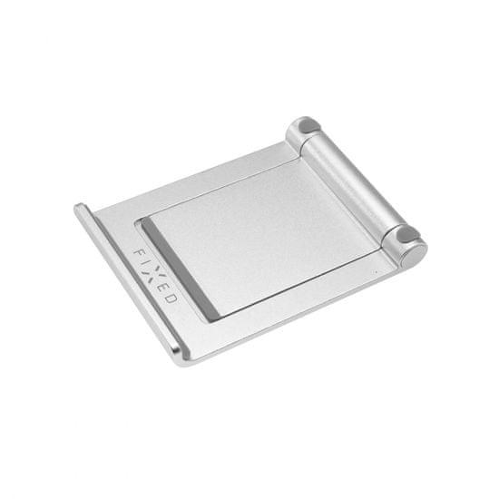 FIXED Hliníkový stojánek Frame TAB na stůl pro mobilní telefony a tablety FIXFR-TAB-SL, stříbrný