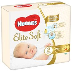Huggies Elite Soft 2 Newborn (4-6 kg) 24 ks
